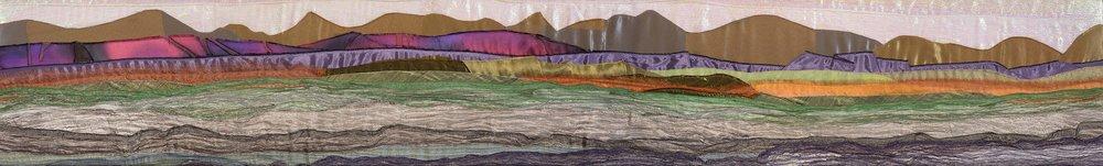 Snowdonia Mountain Range , Textile, 28 x 158 cm