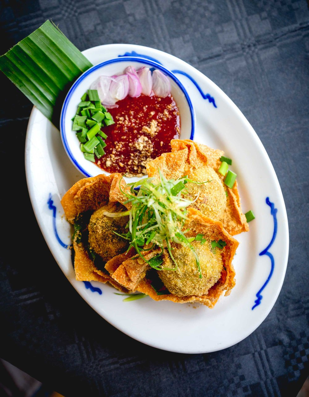 Crispy Duck Wontons with Sweet Plum Sauce