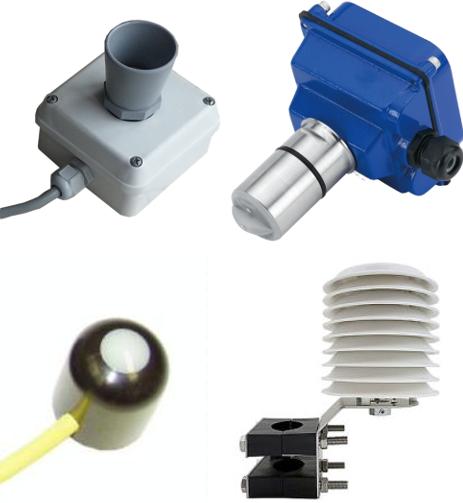 Bases climatologicas inteligentes, sensores de pozos, sensores de bombas, sensores de suelo, sensores del cultivo, etc.