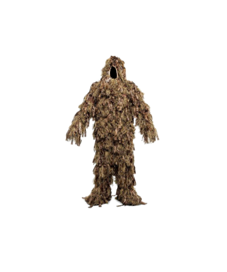 Staying stealthy is healthy. Now, you can go unnoticed in our brand new ghillie suit with our revolutionary new technology! - Ghillie Suit$499.99