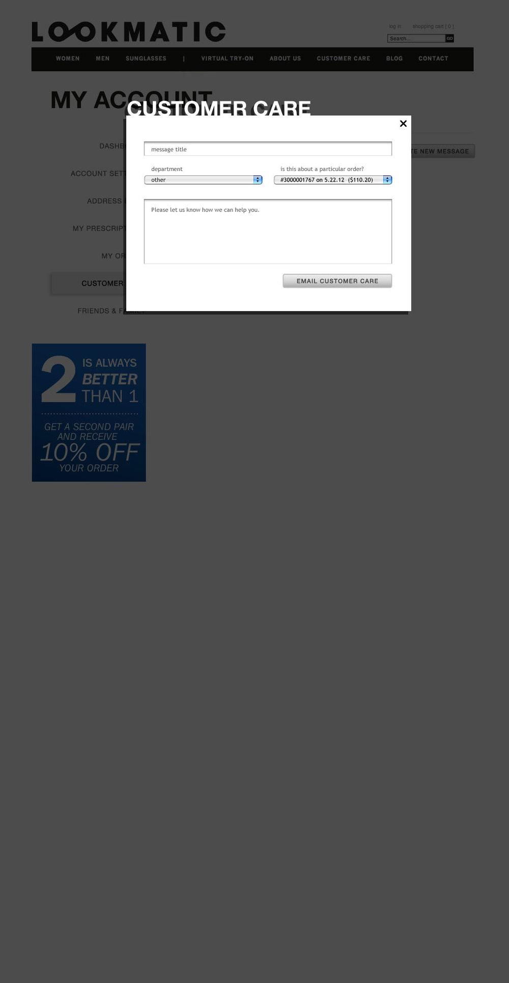 34 - Customer Care (create msg)