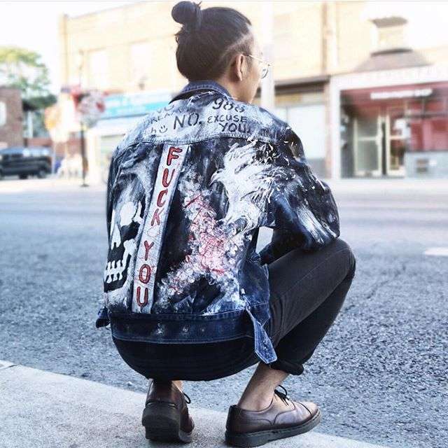 Custom Jacket #SpecialOrder . Fashion + Art @nempire.design www.nempiredesign.com