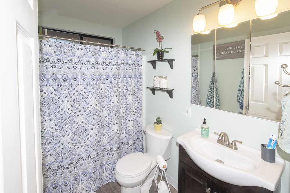 Bathroom in a home for sale in Philo, CA