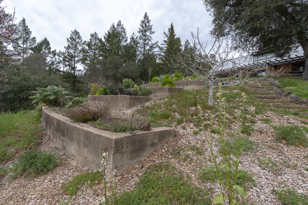 Concrete terraces for gardening.