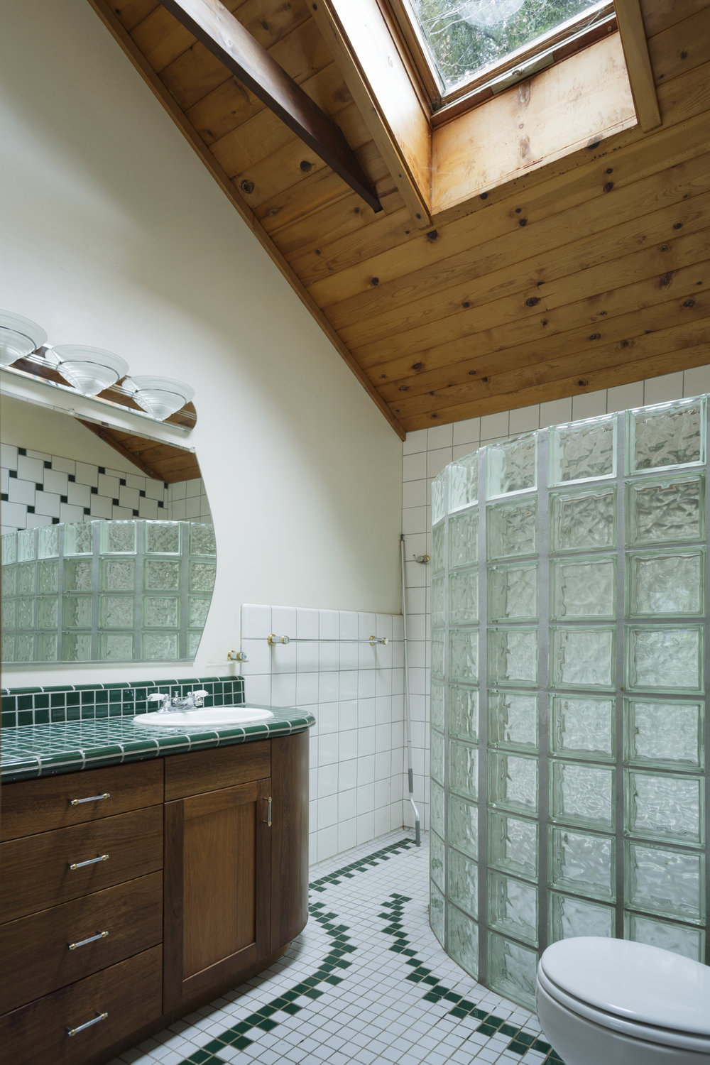 Downstairs master bathroom in a home for sale in Philo, CA