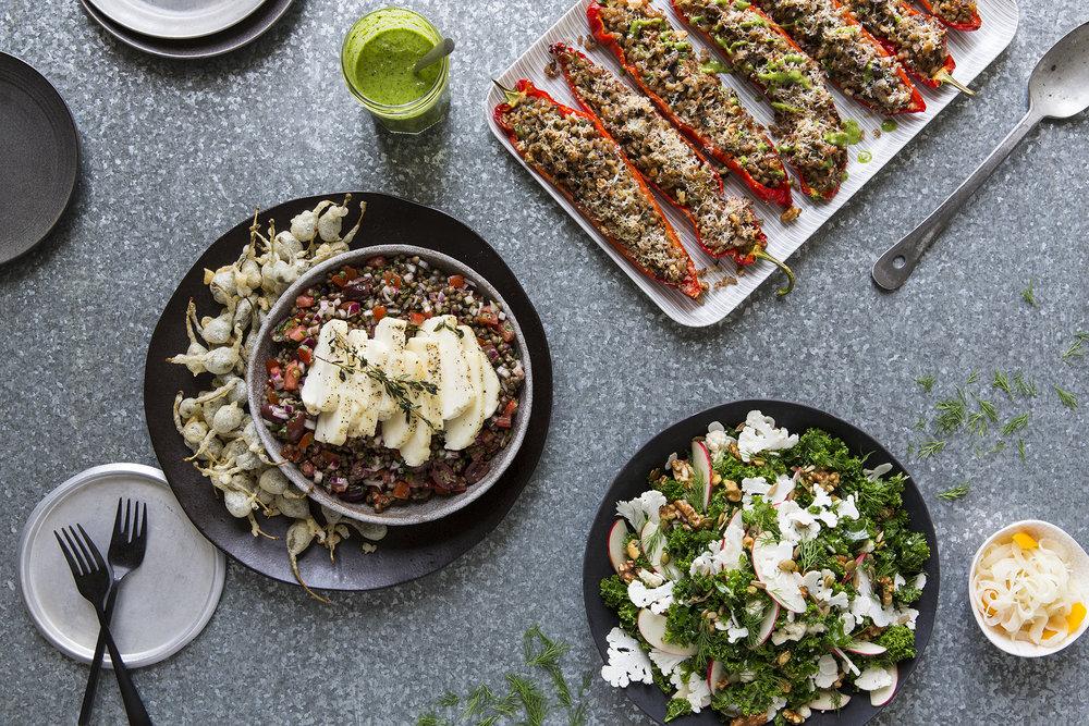 3 Dishes Halloumi, Ramano Peppers, Cauliflower_01.jpg