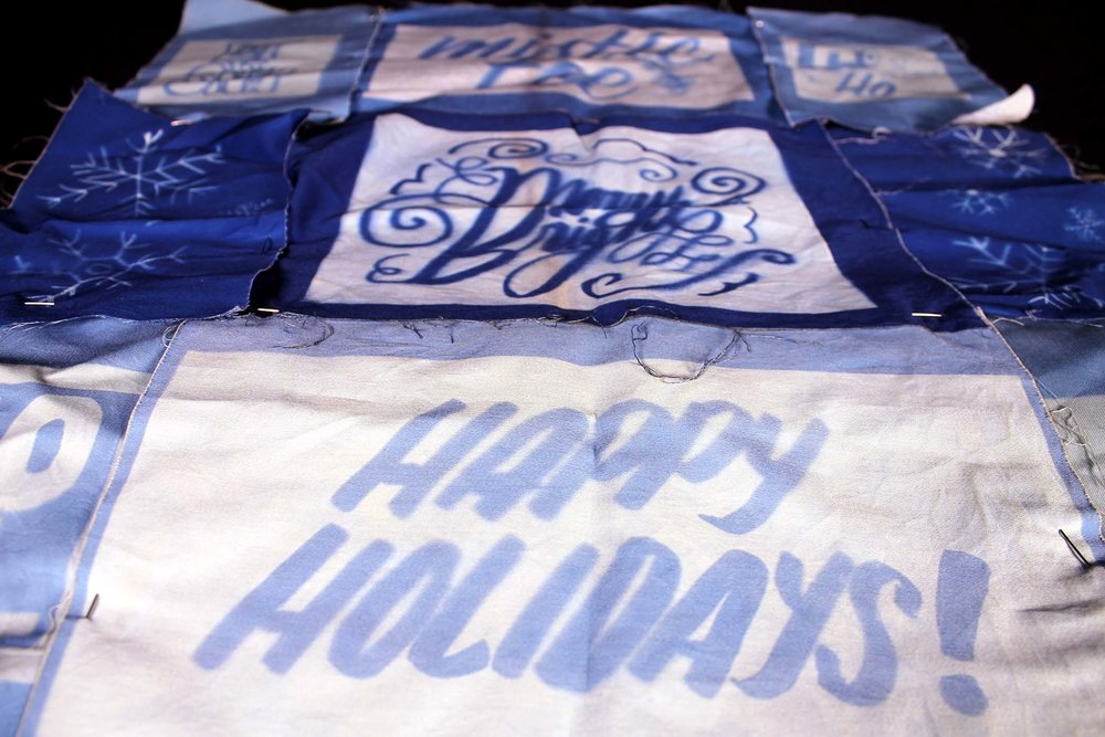 HOLIDAY CYANOTYPES - Hand Lettering2018