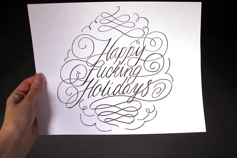 Happy Holidays - Hand Lettering2018