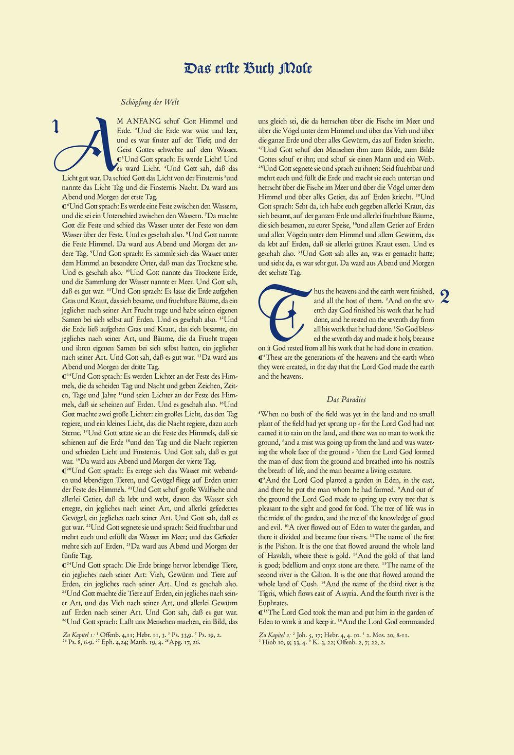HERMANN ZAPF  Germany, 1955  Poliphius, Blado, Caslon Blackletter  22.5 X 33 cm  Letterpress  Liber Librorum Collection