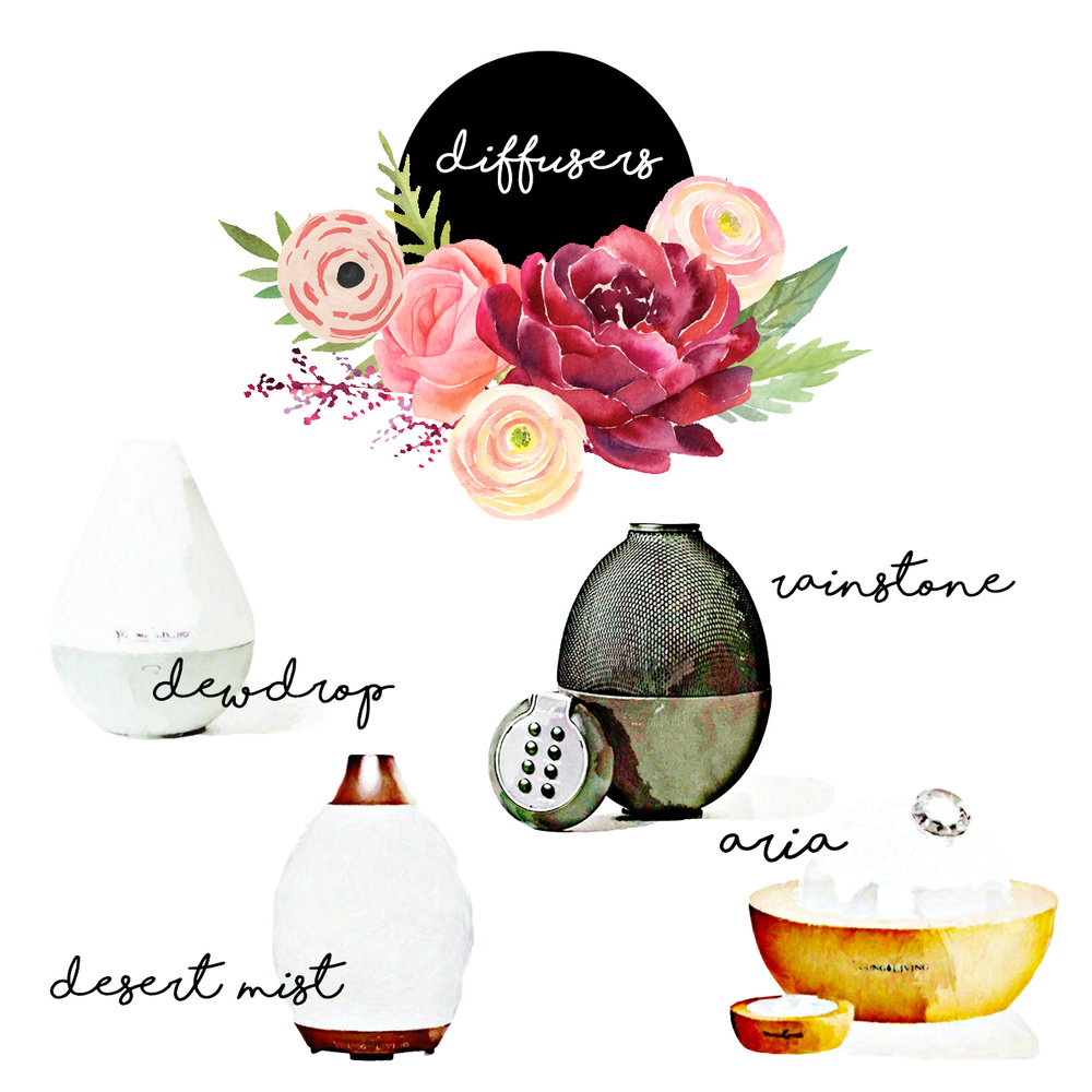 Diffuser Options - Choose from Desert Mist, Dew Drop, Rainstone or Aria Diffusers!