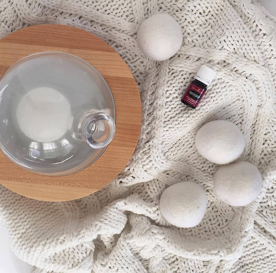 Aromatically - Purify the air, calm down, uplift your mood, eliminate stinky smells and create different scent experiences. Try adding to wool dryer balls to scent your laundry while cutting your dryer time down as well. My current fav combo is Sacred Frankincense and Orange in the diffuser.