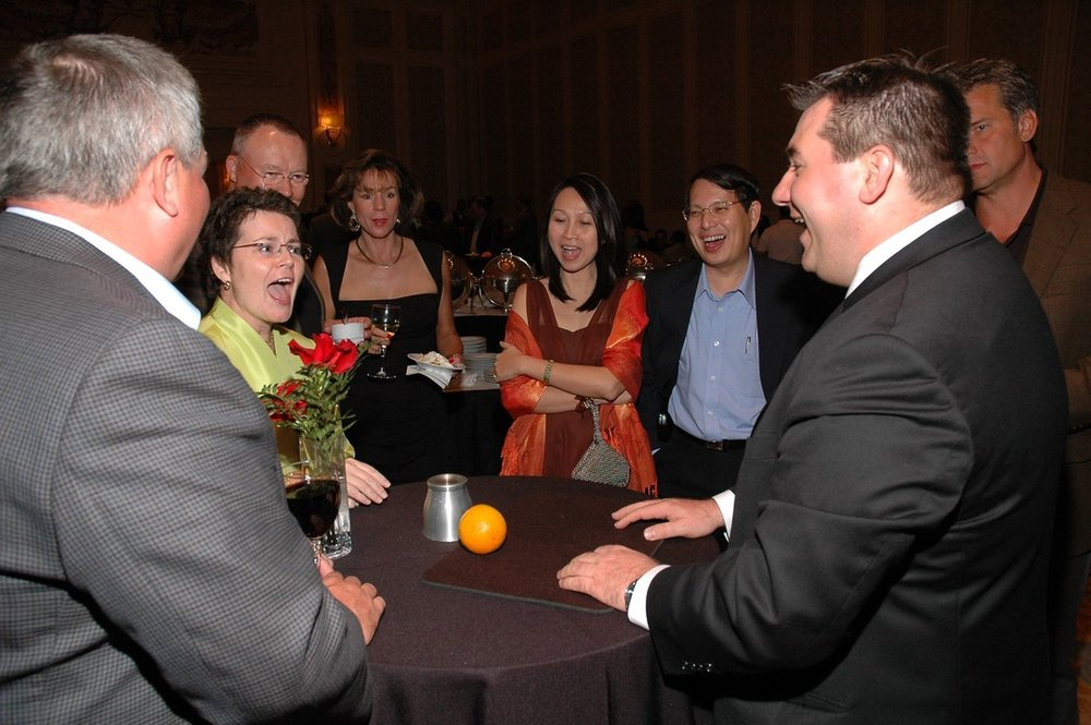 Mike Duseberg engages and entertains crowds at a VIP event in Las Vegas.