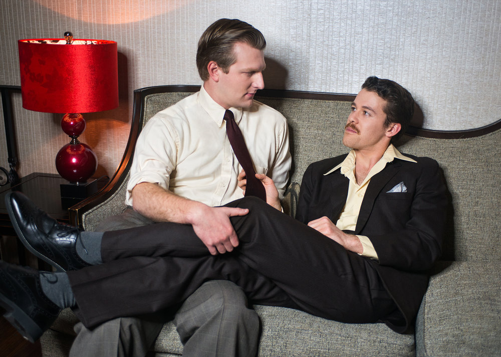 Pictured L to R: Adam Niemann (William Inge) and Brennan Pickman-Thoon (Tennessee Williams). Photo by Lois Tema.
