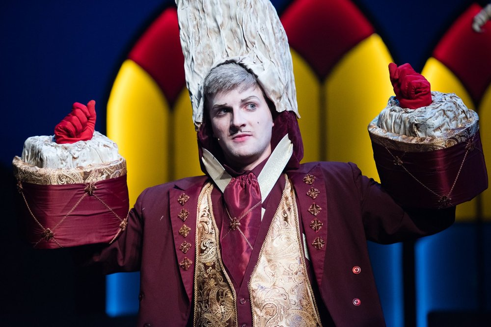 """As Lumière in """"Beauty and the Beast"""" at Berkeley Playhouse — Photo by Ben Krantz Studio"""