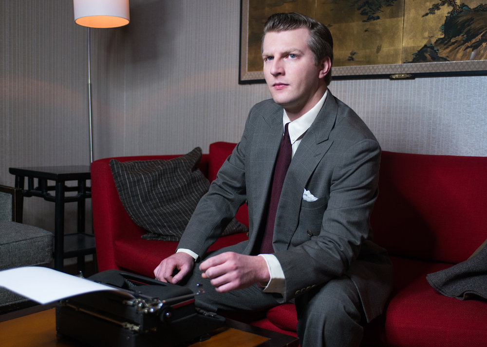 """As William Inge in """"The Gentleman Caller"""" publicity shot with New Conservatory Theatre Center — Photo by Lois Tema"""