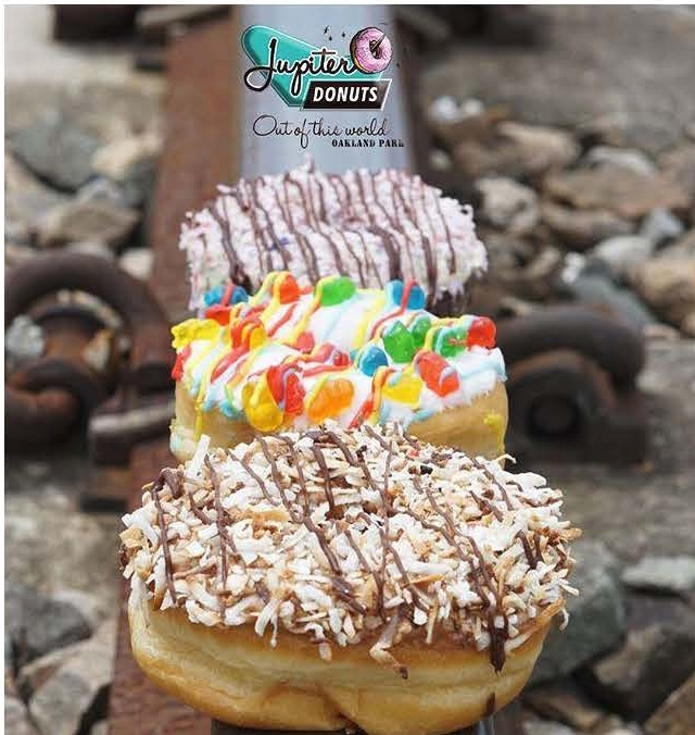 """DONUT FAVORITES - Our donuts are freshly handcrafted each day and we change the selection and variety of donuts daily too so you'll see new flavors and varieties every time you visit. The """"Out of This World"""" combination possibilities are endless!Here are just a few of our favorites to temp you.Which will be your favorite?"""