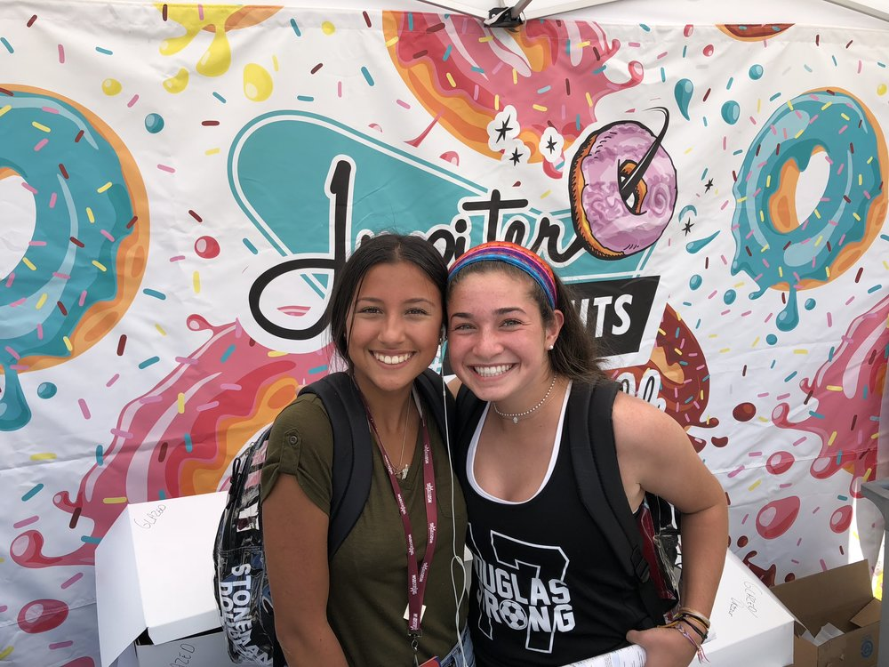 """""""A Smile for a Donut"""" event at Marjory Stoneman Douglas HS"""