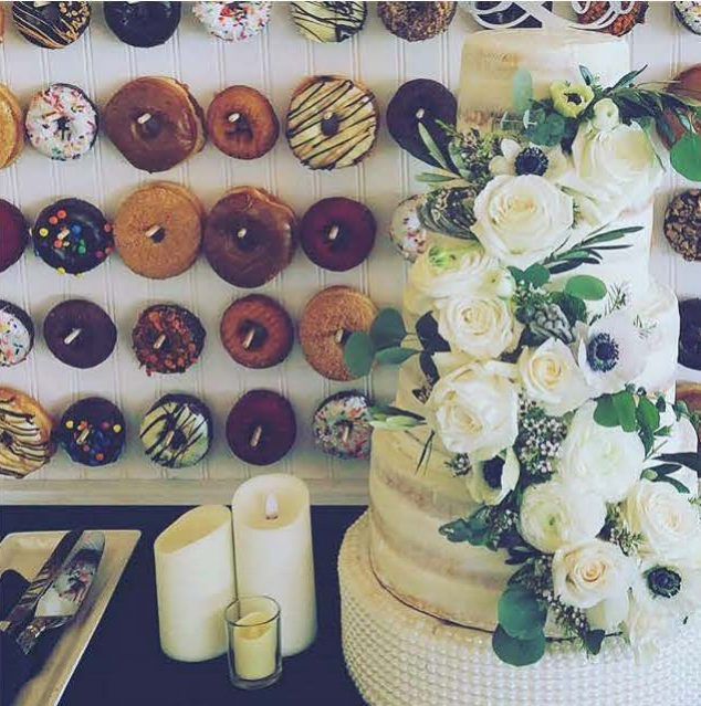 "Elegant wedding donut walls ""Take the cake"" -"