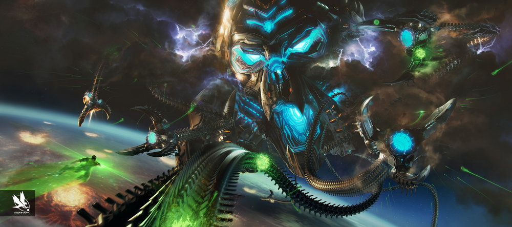 Atomhawk Concept Art and Key Art for NetherRealm's Injustice 2