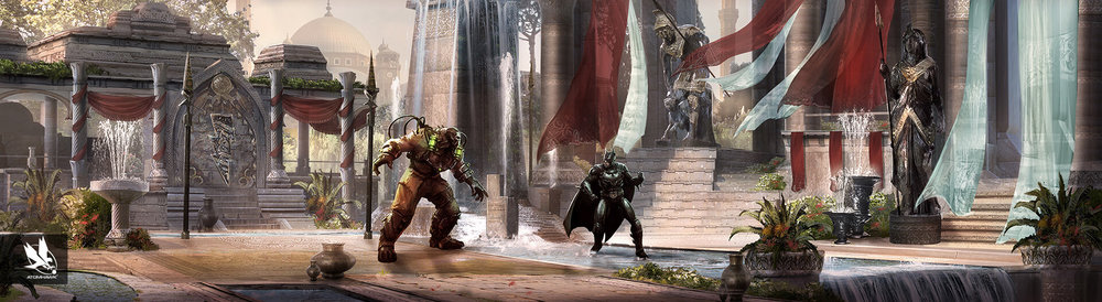 Environment Design - Injustice2 - Courtyard of Kings