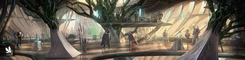 Environment Design - Injustice2 - Gorilla City - Grodds Trophy Room