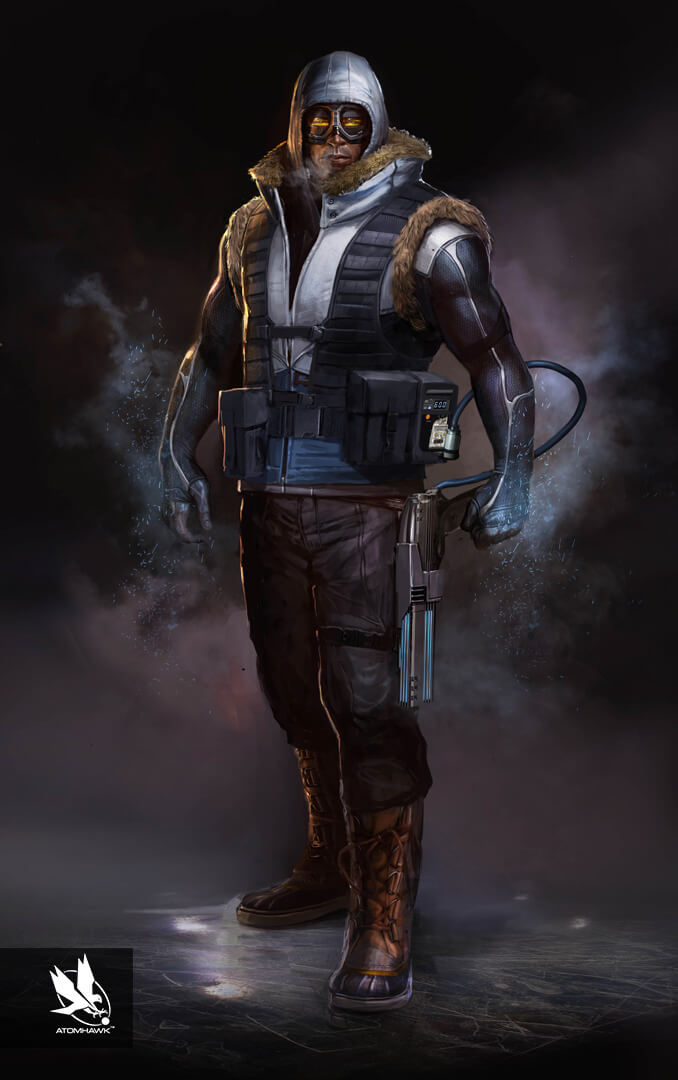 Here is some Character Art we did for Warner Brothers NetherRealm Studio on Injustice2 - Captain Cold