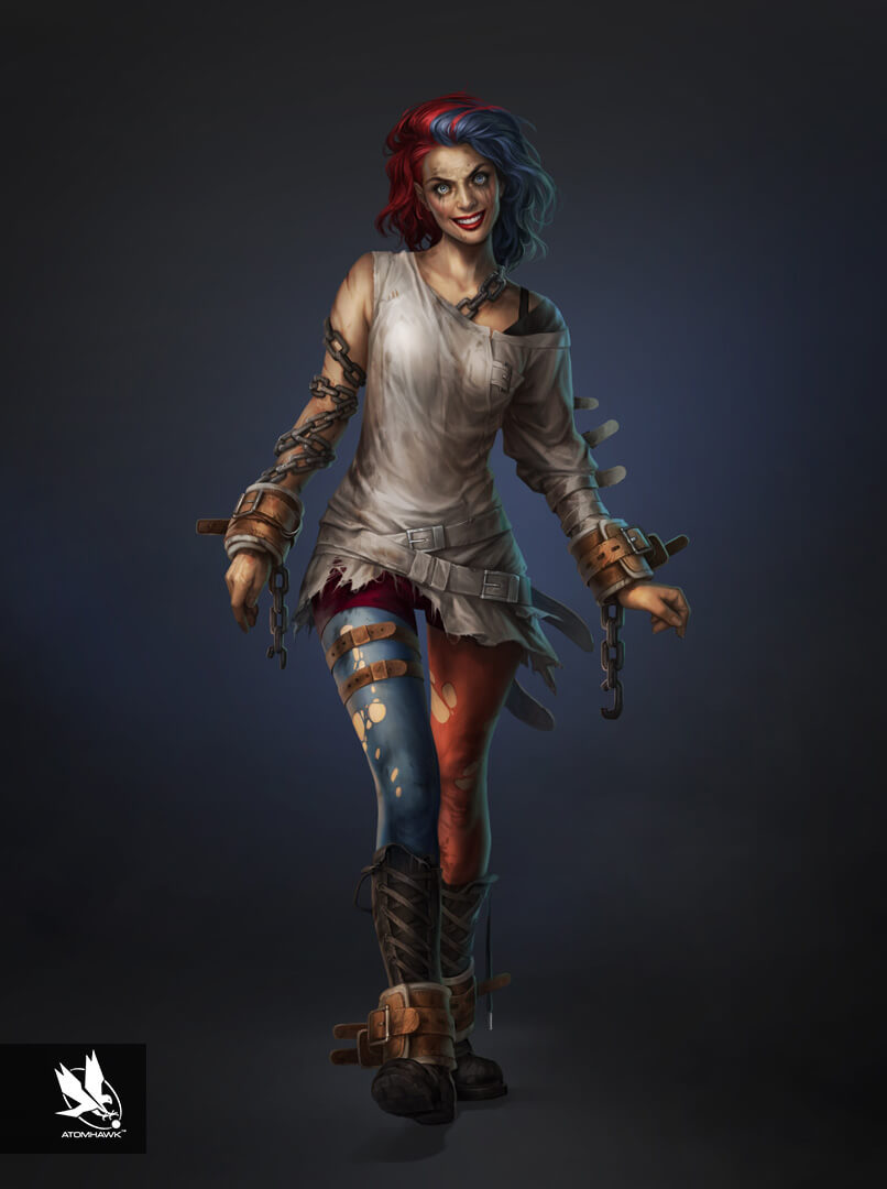 Here is some Character Art we did for Warner Brothers NetherRealm Studio on Injustice2 - Harley Quinn