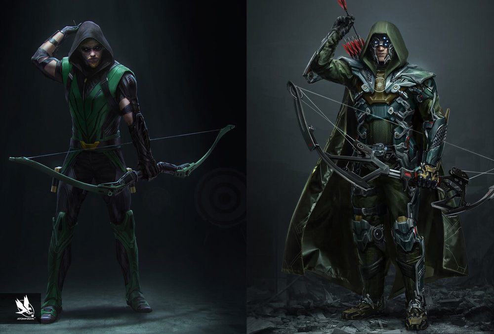 Atomhawk_Warner-Bros-NetherRealm_Injustice-2_Concept-Art_Character-Design_Green-Arrow.jpg