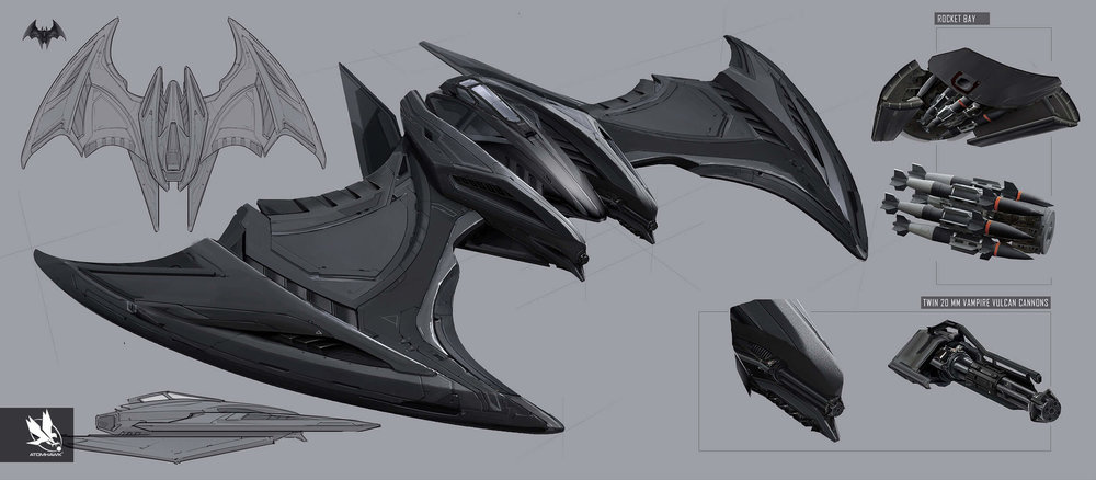 Here is some Breakout Concept Art we did for Warner Brothers NetherRealm Studio on Injustice2 - Batwing