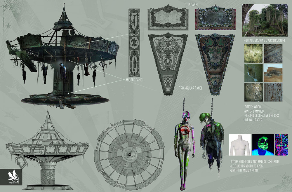 Here is some Breakout Concept Art we did for Warner Brothers NetherRealm Studio on Injustice2 - Jokers Playground
