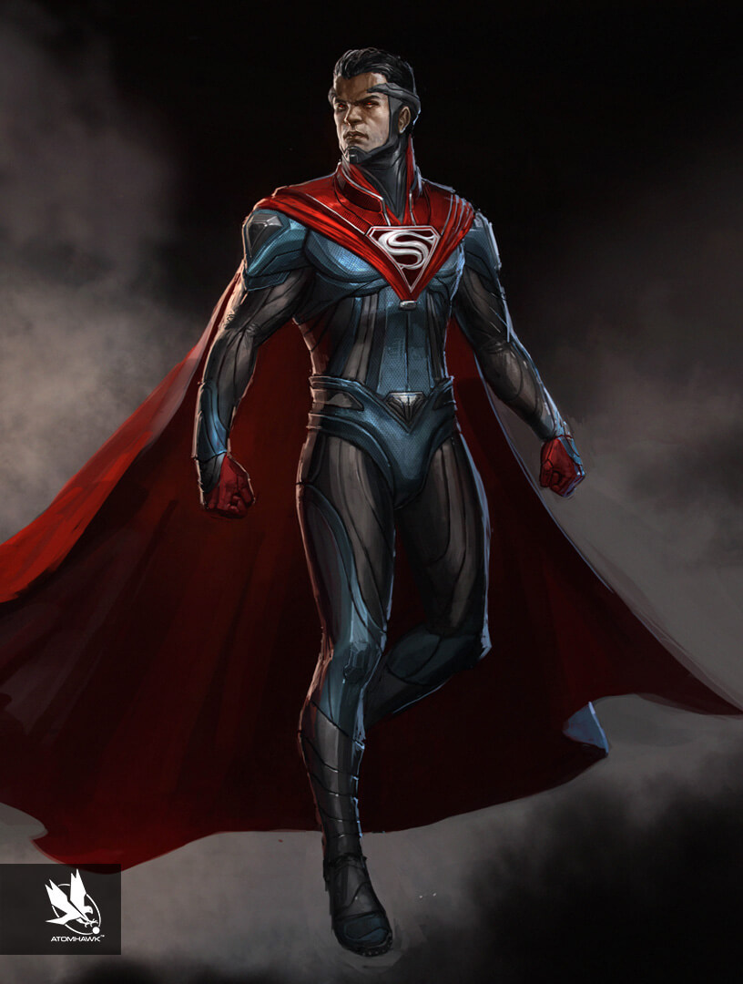 Atomhawk are pleased to announce we can finally share some of our Concept Art work on Injustice 2 for Warner Brothers, after three years in the making. Here is Superman.