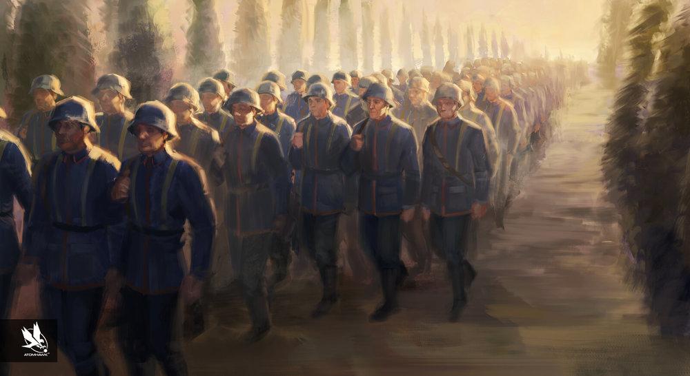 Aardman Studios - 11-11-Memories Retold - Key moment: Men return to war