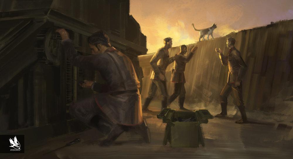 Aardman Studios - 11-11-Memories Retold Project - Concept Art - Getting on with it