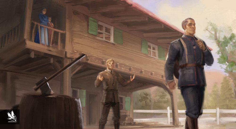 Aardman Studios - 11-11-Memories Retold Project - Concept Art -  Angry departure