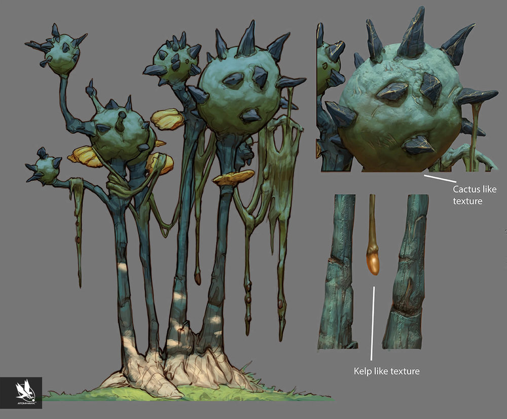 Alien Vegetation Trees Concept Art