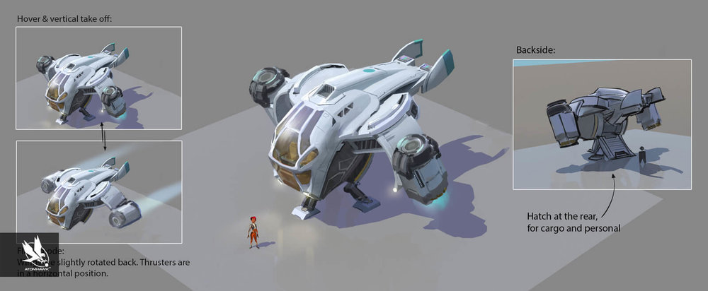 Dropship Concept Art for Unity 3D Game Kit