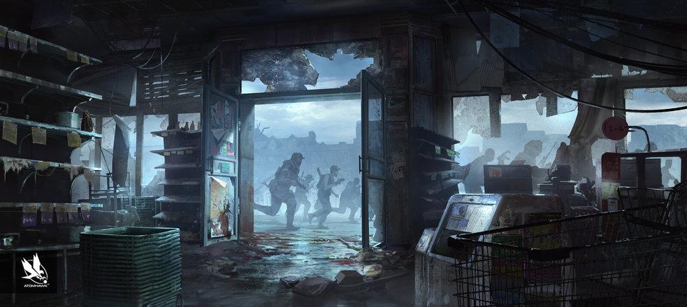 Atomhawk_Starbreeze_Overkills-The-Walking-Dead_Concept-Art_Key-Moment_Cinematic-Illustration-1.jpg