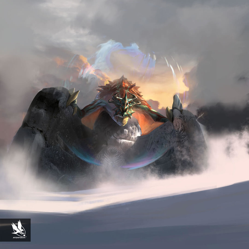 The Elder Scrolls Legends - Concept Art - Mystic Dragon