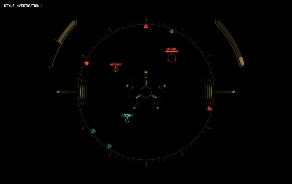 Eve:Valkyrie - UI for VR - Spacecraft Design - Reticle Style Investigation
