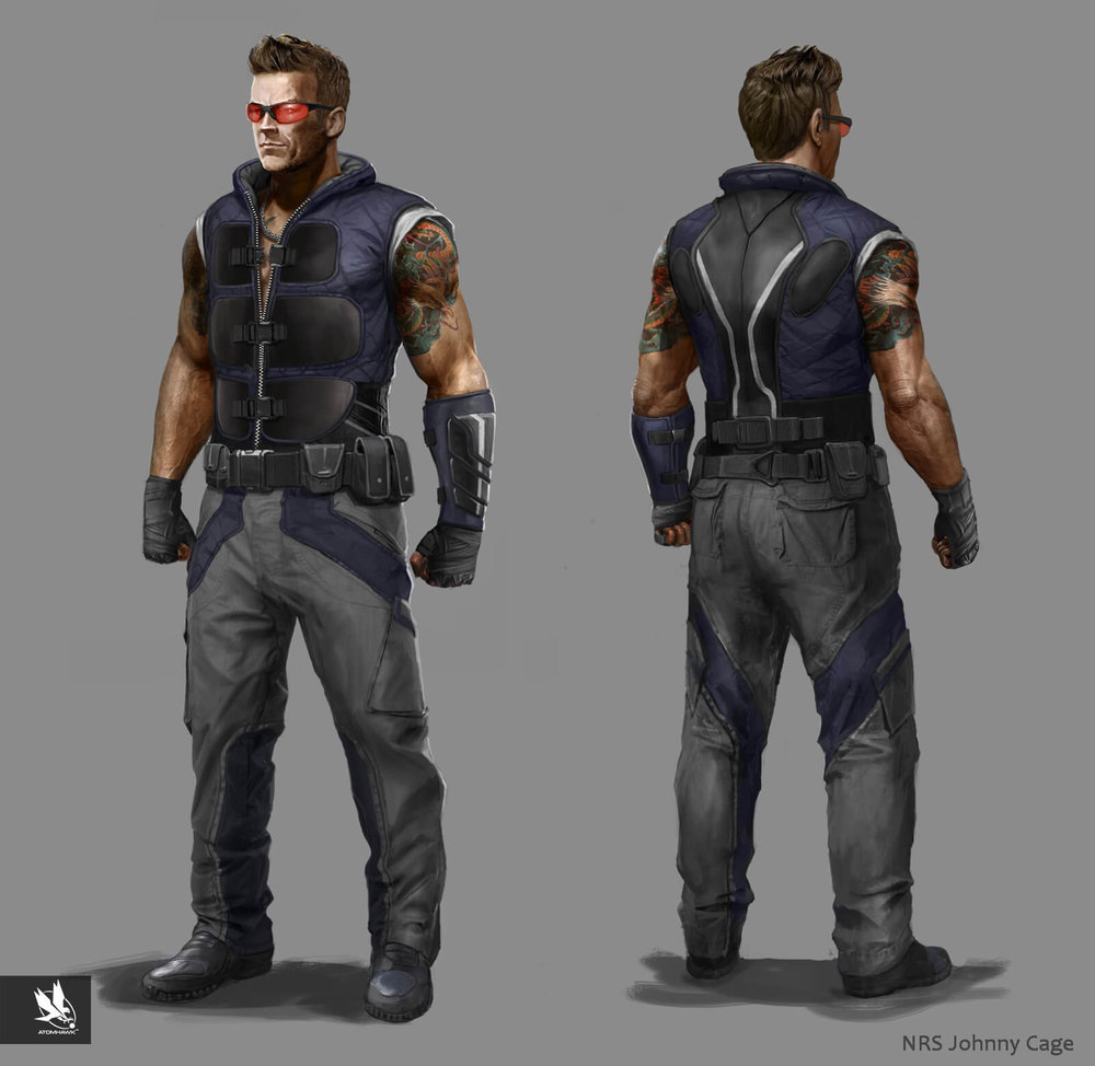 Mortal Kombat X - Character Design - Johnny Cage