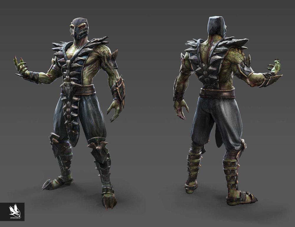Mortal Kombat X - Character Design - Reptile