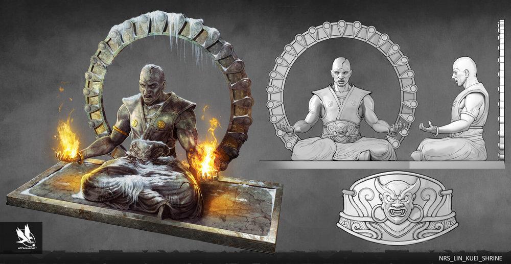 Atomhawk - Mortal Kombat X - Prop Design - Lin Kuei Temple