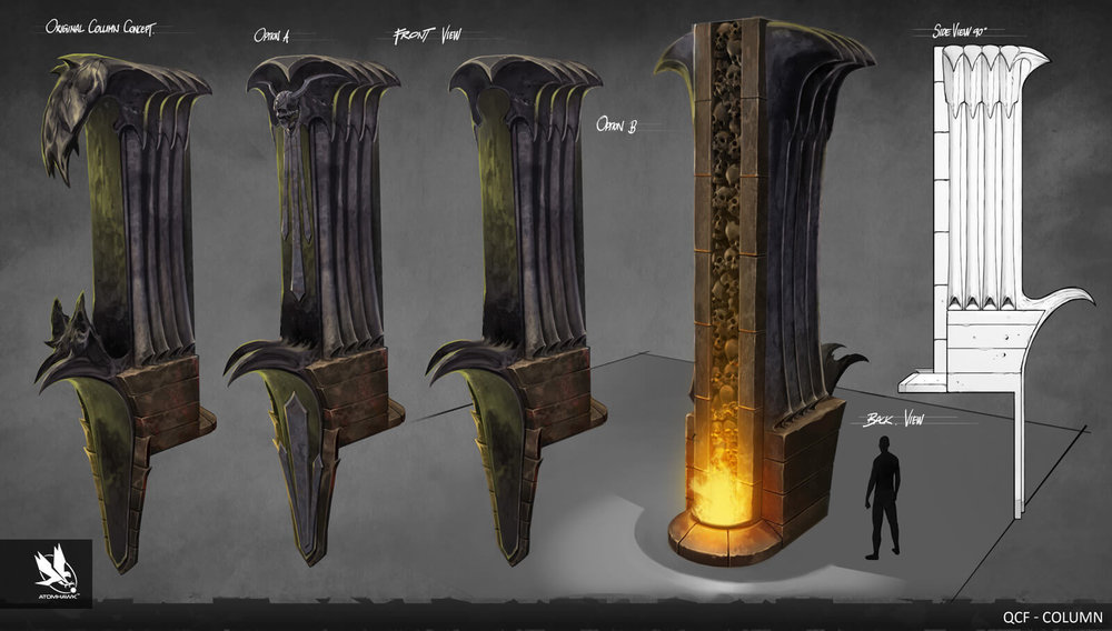 Atomhawk - Mortal Kombat X - Prop Design - Lin Kuei Fortress Column