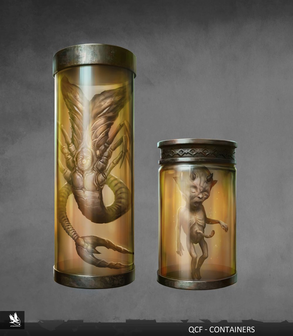 Atomhawk - Mortal Kombat X - Prop Design - Lin Kuei Fortress Container