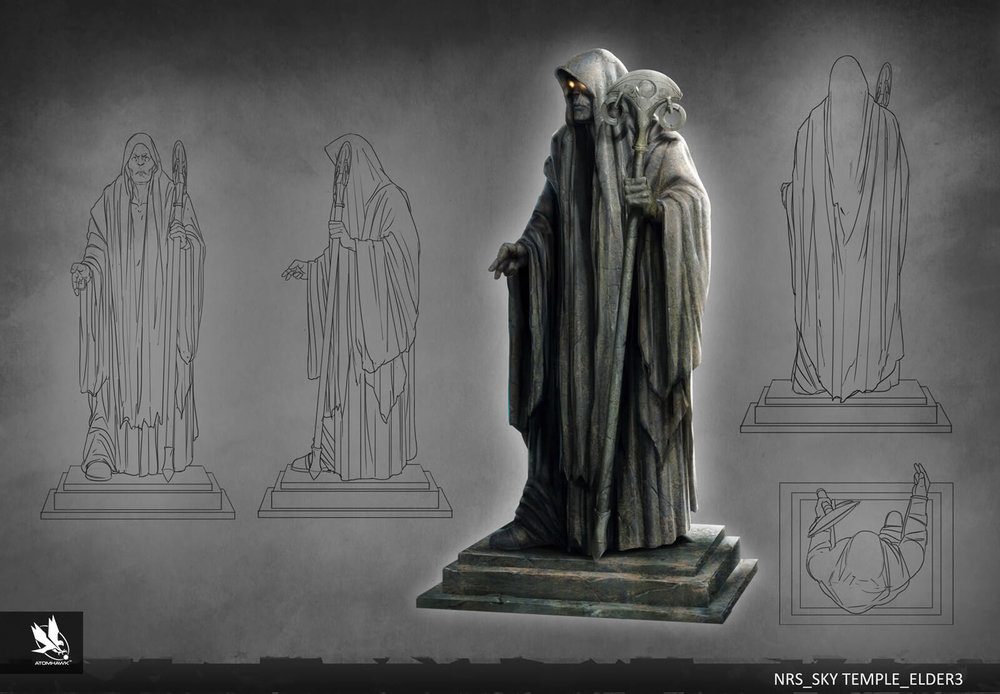 Atomhawk - Mortal Kombat X - Prop Design - Raiden Temple Elder