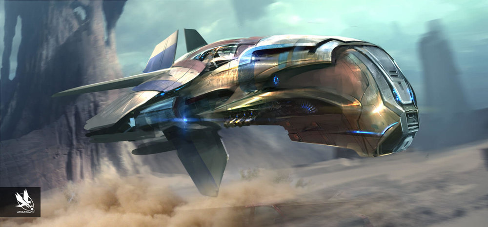 Atomhawk - Guardians of the Galaxy - Concept Art / Spacecraft Design - Quills Ship