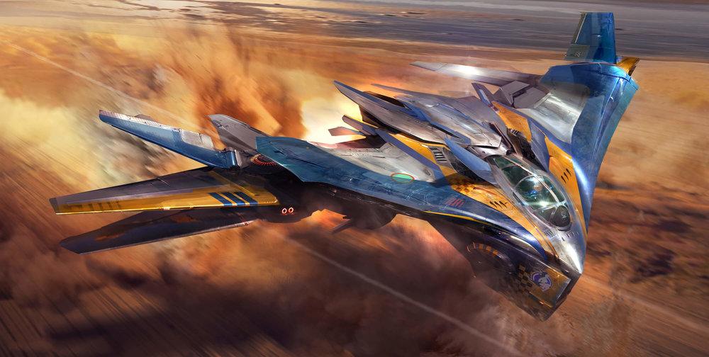 Atomhawk - Guardians of the Galaxy - Concept Art / Spacecraft Design - Milano ship