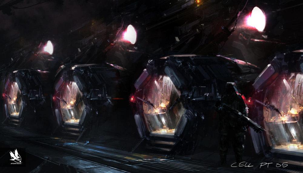 Atomhawk - Guardians of the Galaxy - Concept Art / Environment Design - Kyln Cells