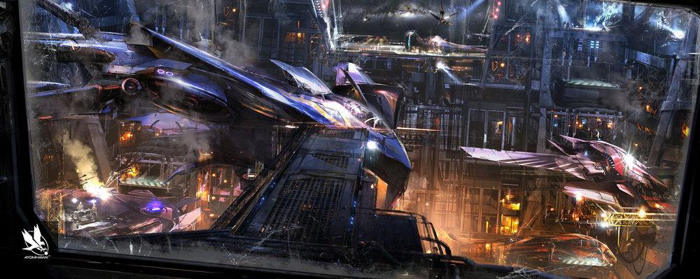Atomhawk - Guardians of the Galaxy - Concept Art / Environment Design - Kyln Interior