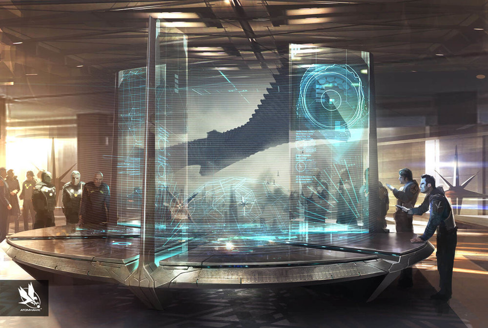 Atomhawk_Marvel_Guardians-of-the-Galaxy_Concept-Art_Spacecraft-Design_Nova-Corp-Hologram-Table.jpg